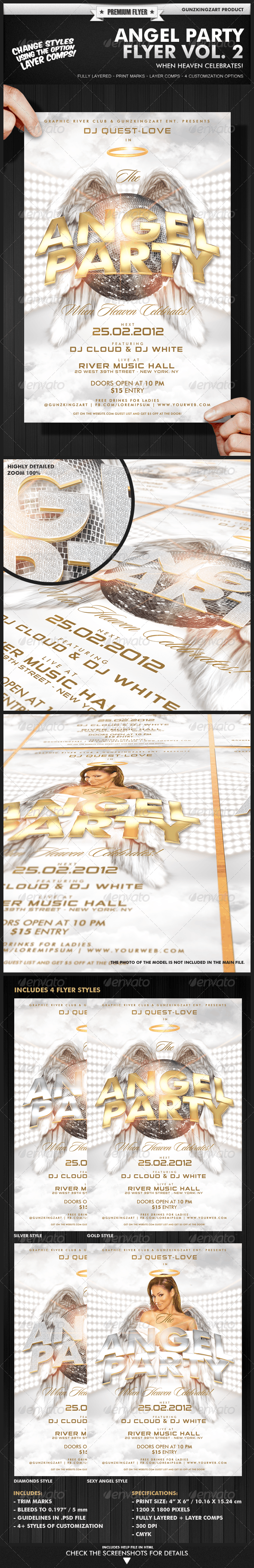 Angel Party Flyer Vol. 2 - Clubs & Parties Events