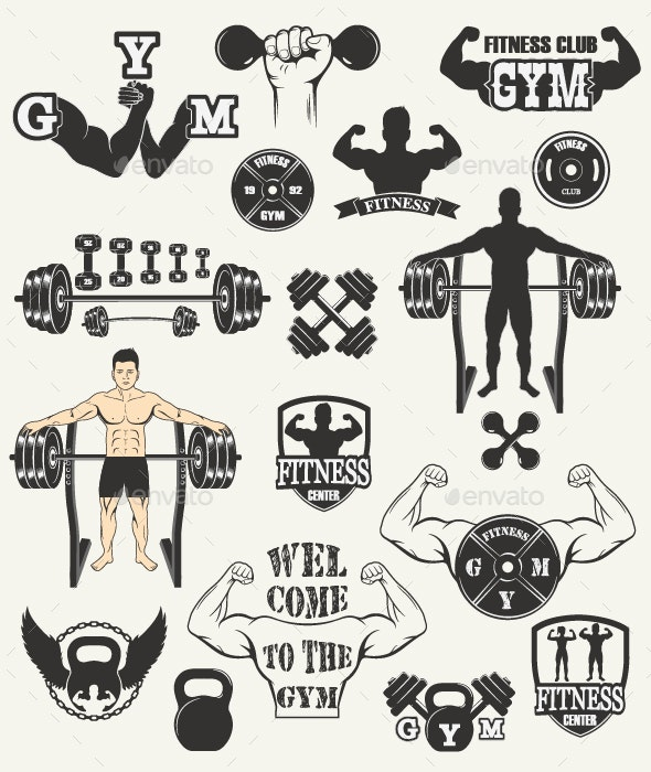 Fitness Gym Icons - Sports/Activity Conceptual