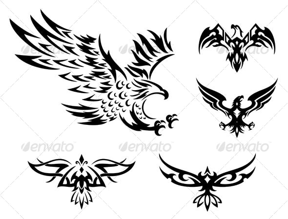 tribal eagles - Animals Characters