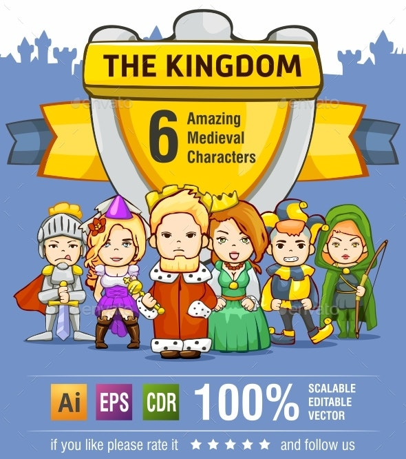 Medieval Character Set - The Kingdom - People Characters