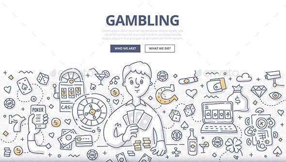 Gambling Doodle Concept - Miscellaneous Conceptual