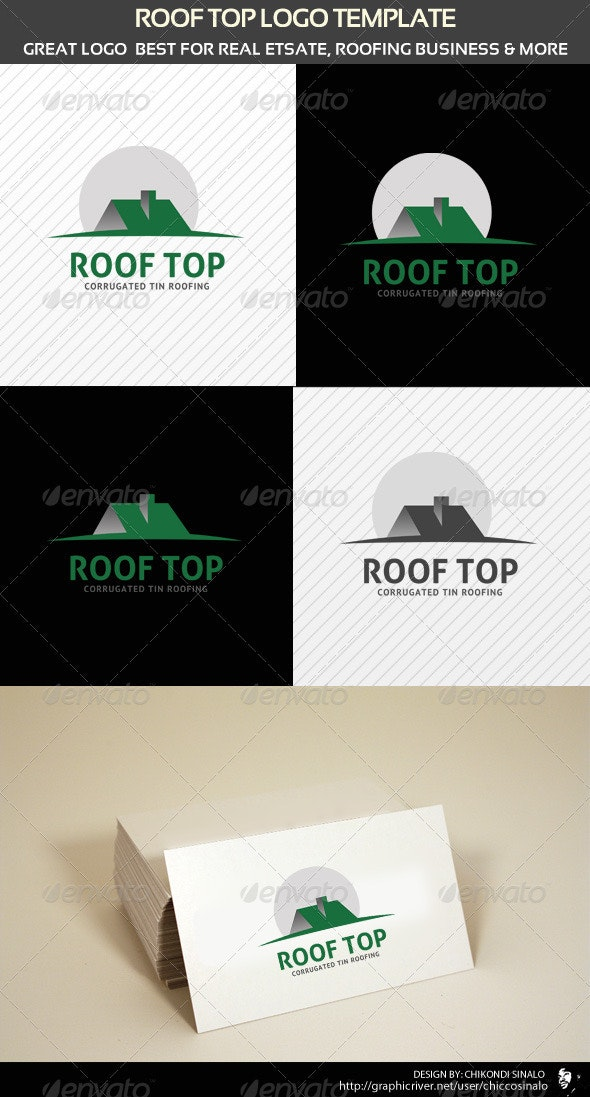 Roof Top Logo Template - Buildings Logo Templates