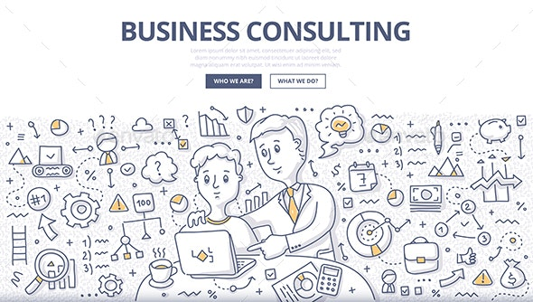 Business Consulting Doodle Concept - Concepts Business