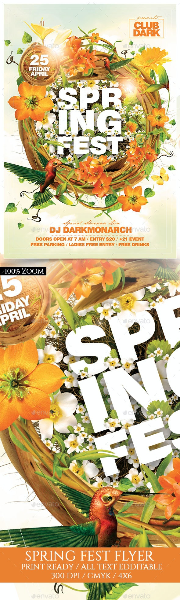 Spring Fest - Events Flyers