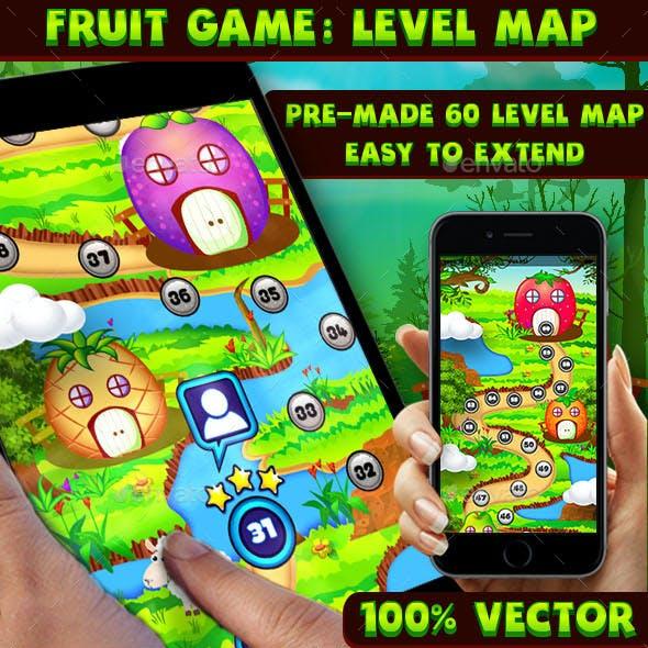 Fruit Game UI Level Map