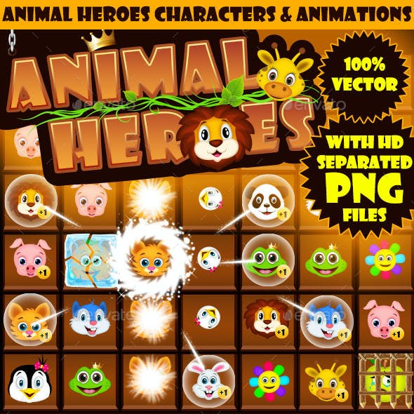 Animal Heroes Characters & Animations