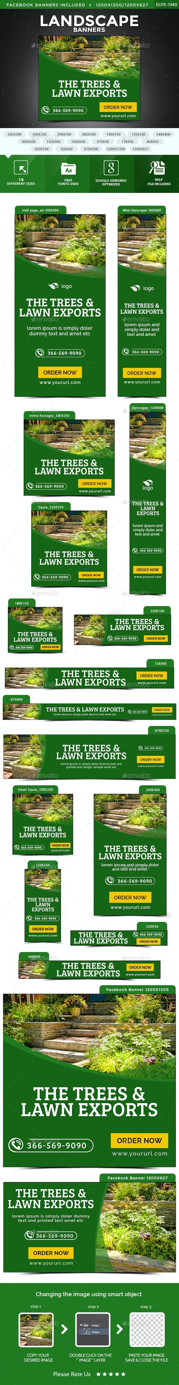 Landscape Banners - Banners & Ads Web Elements