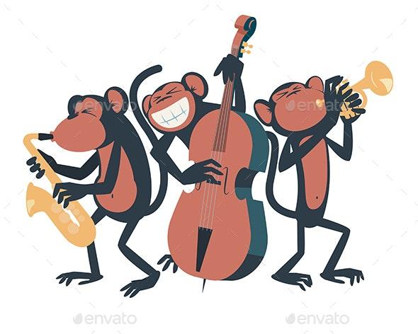Monkey Jazz Trio - Animals Characters