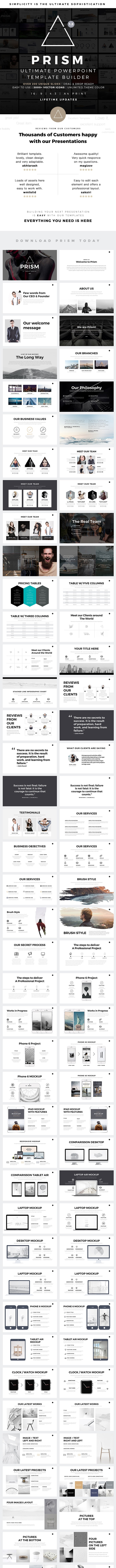 Prism Minimal PowerPoint Template Builder - Business PowerPoint Templates