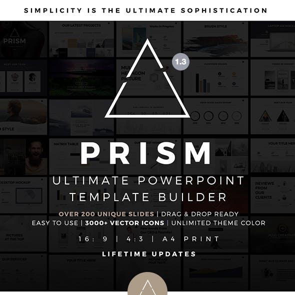 Prism Minimal PowerPoint Template Builder