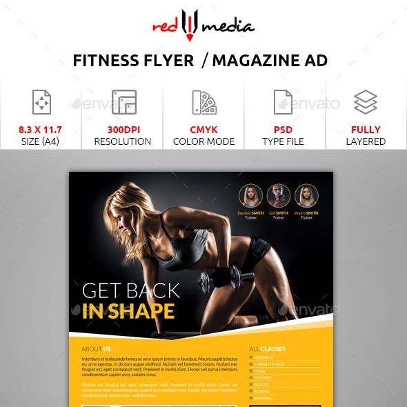 Fitness Flyer / Magazine AD