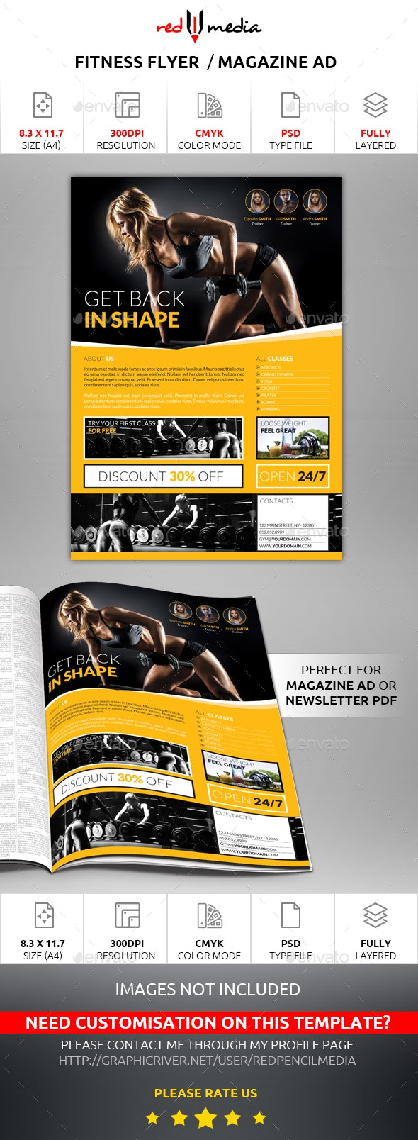Fitness Flyer / Magazine AD - Sports Events