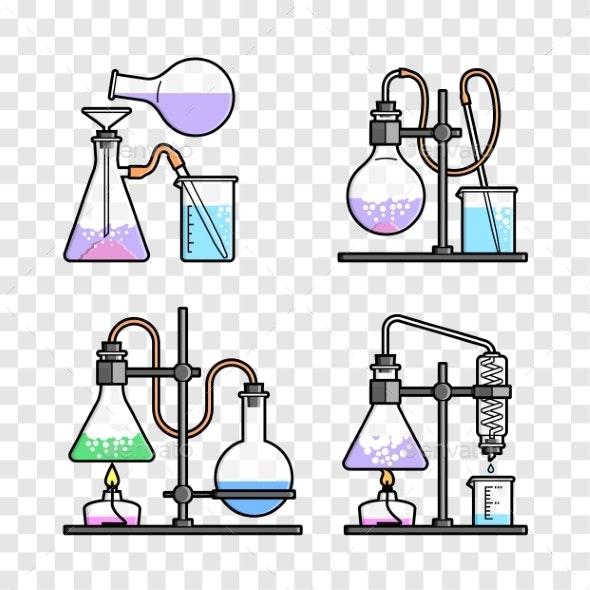 Chemical Glassware Icon - Health/Medicine Conceptual