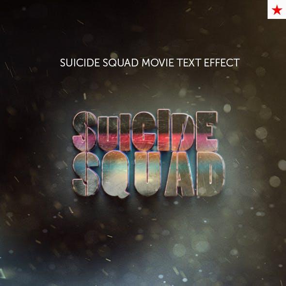 Suicide Squad Movie Text Effect