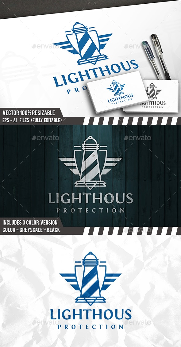 Lighthouse Wings Logo - Crests Logo Templates