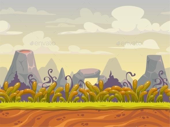 Fantasy Seamless Nature Landscape - Landscapes Nature