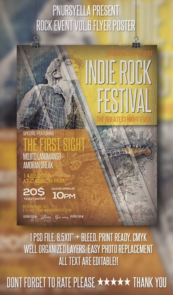 Rock Event Flyer / Poster Vol.6 - Events Flyers