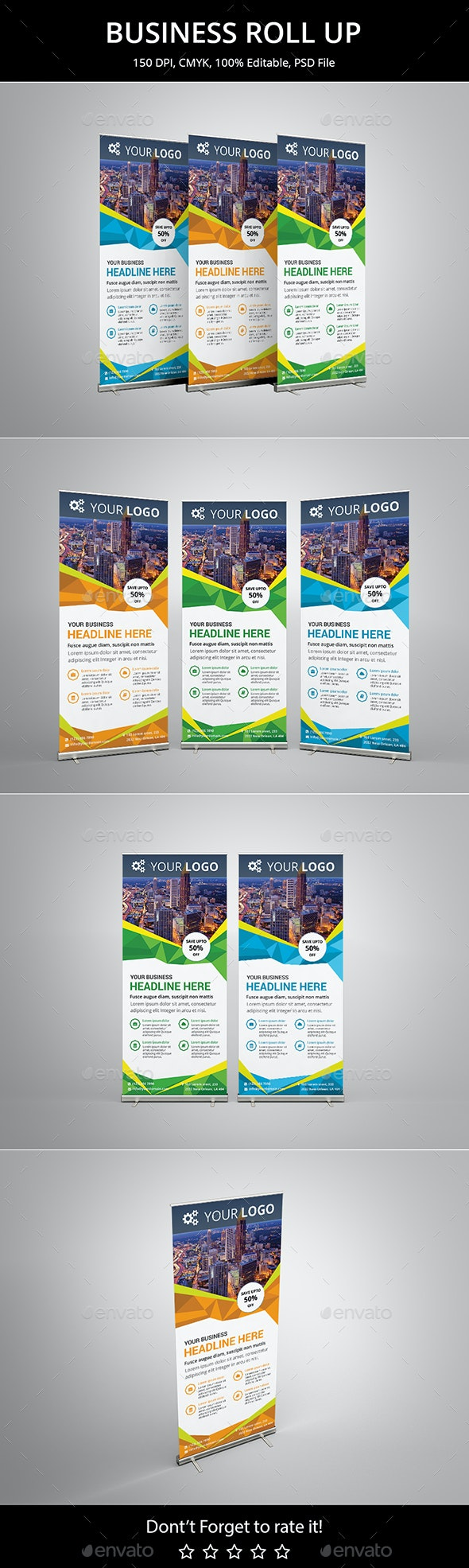 Corporate Business Roll up - Signage Print Templates