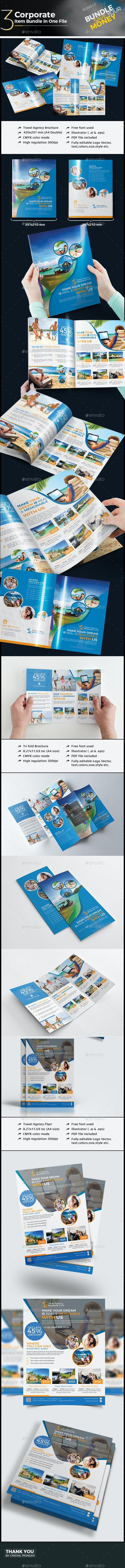 Travel Agency Branding Bundle - Corporate Brochures