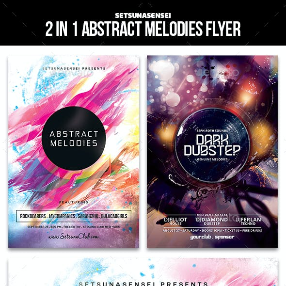 Abstract Melodies Flyer