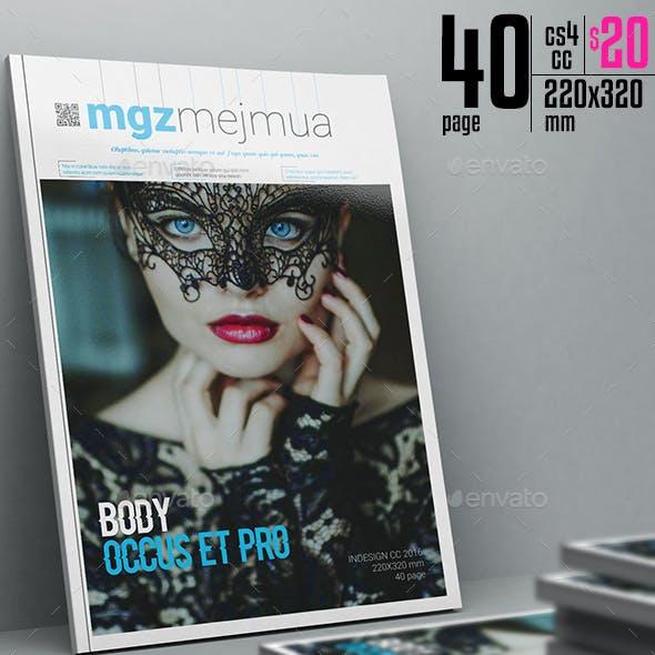 Mgzmejmua Magazine Template 40 Page
