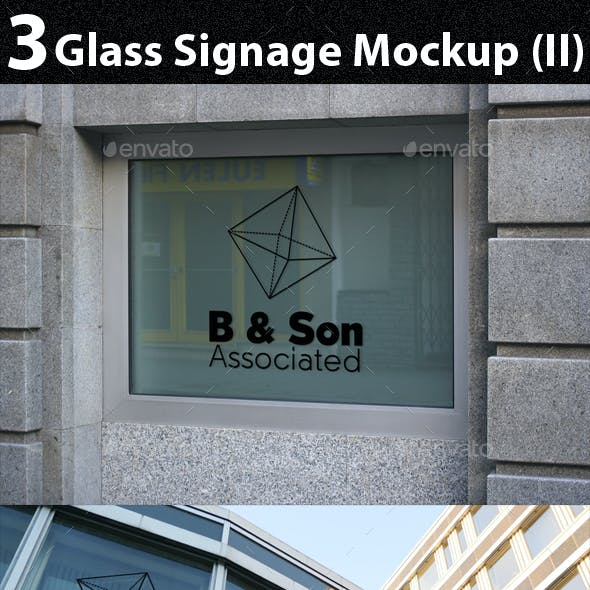 3 Glass Signage Mockup (II)