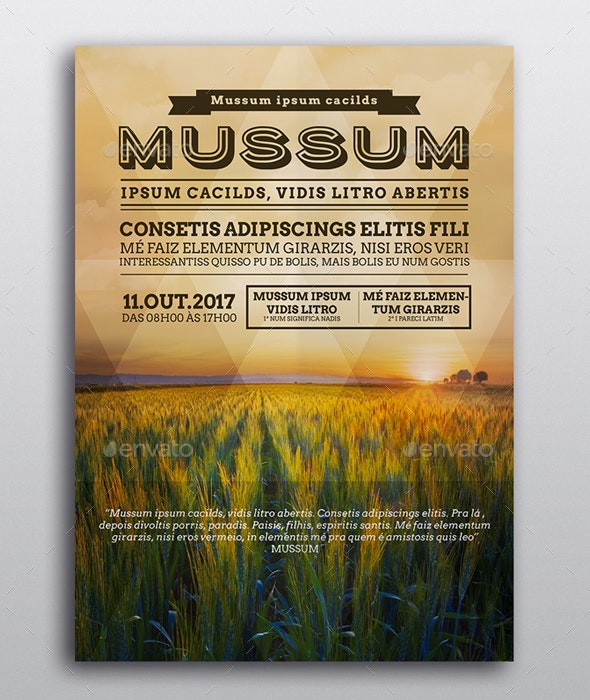 Mussum Event Poster Template - Posters Print