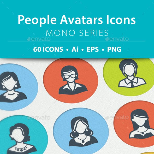 People Avatars Icons - Mono Series