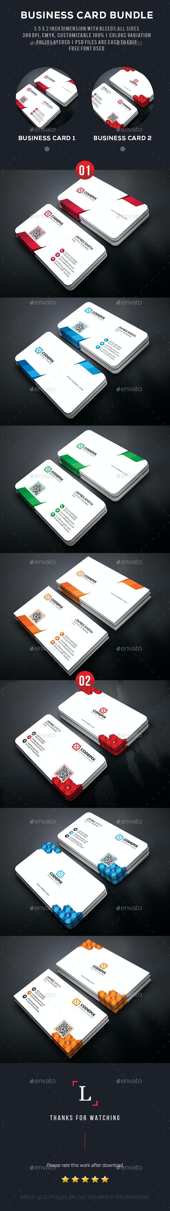 Clean Business Card Bundle - Business Cards Print Templates