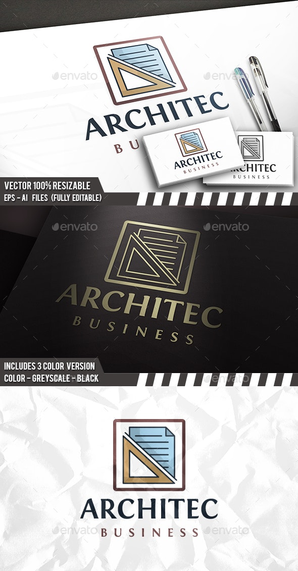 Architect Studio Logo - Objects Logo Templates