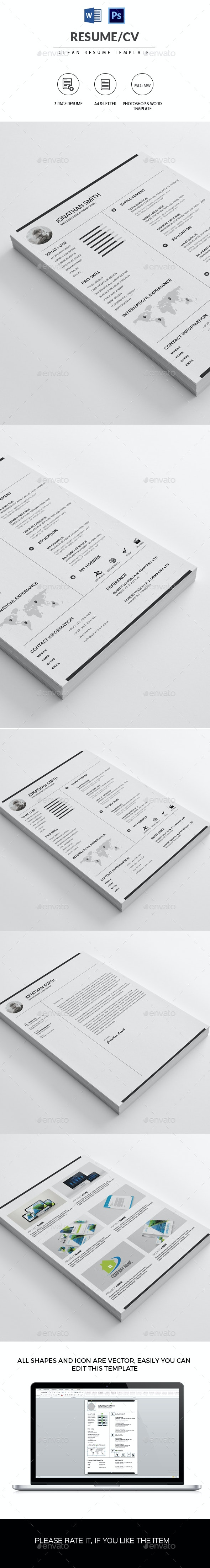 Minimal Resume/CV - Resumes Stationery
