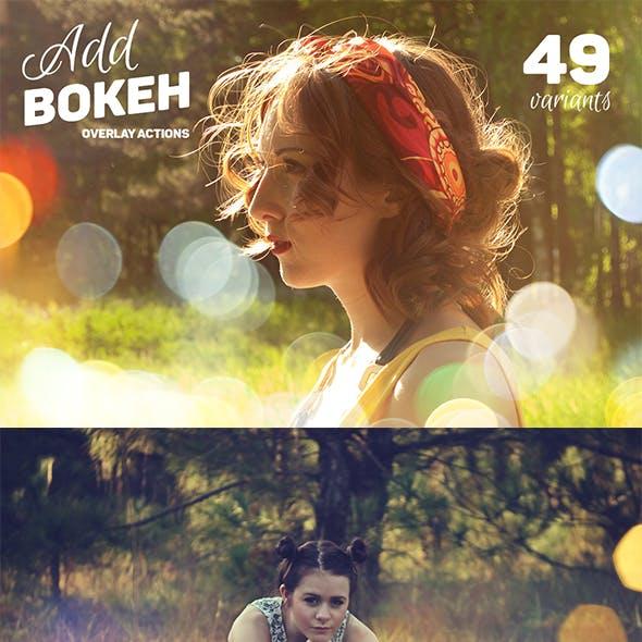 Add Bokeh Overlay Photoshop Actions