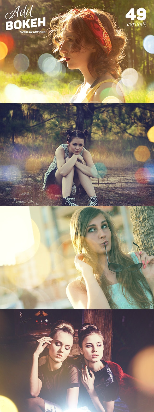 Add Bokeh Overlay Photoshop Actions - Photo Effects Actions