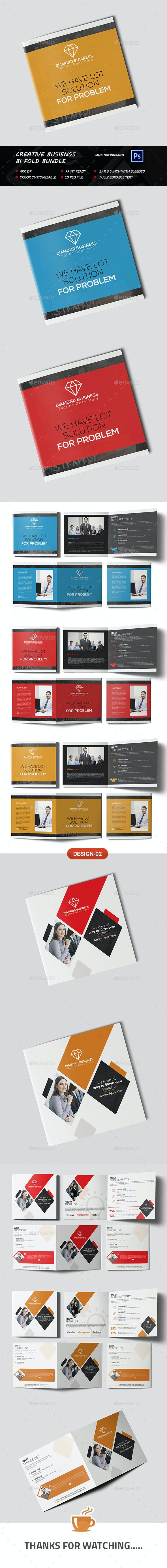 Creative Business Bi-fold Bundle - Brochures Print Templates
