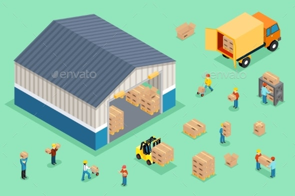 Isometric Delivery And Logistics - Miscellaneous Conceptual