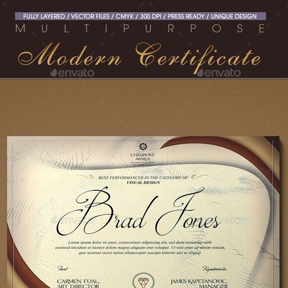 Multipurpose Modern Certificate v.11