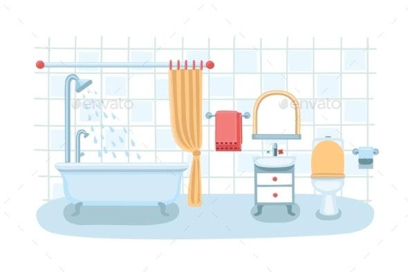 Bathroom Interior - Miscellaneous Vectors
