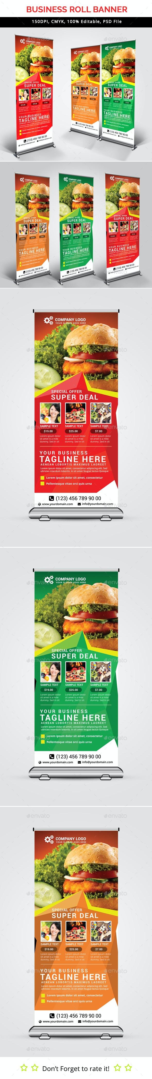 Fast Food Roll Up Banner V35 - Signage Print Templates