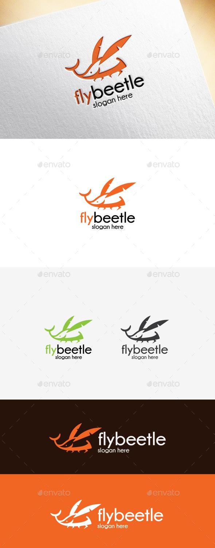 Fly Beetle Logo Template - Animals Logo Templates