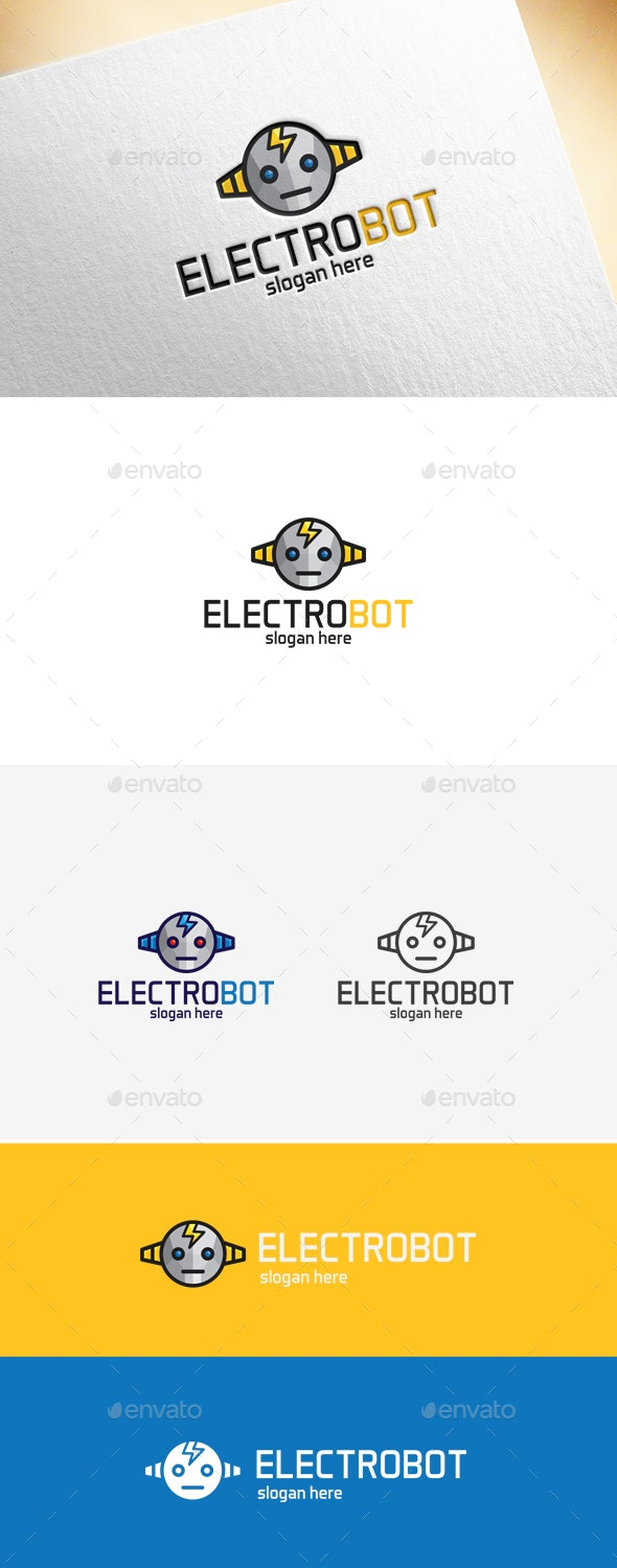Electrobot Logo Template - Objects Logo Templates