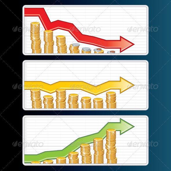 Financial Bar Graphs - Business Conceptual