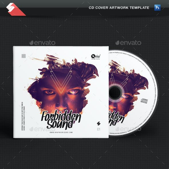 Forbidden Sound - CD Cover Artwork Template