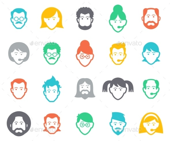 Avatar and People Icons - People Characters