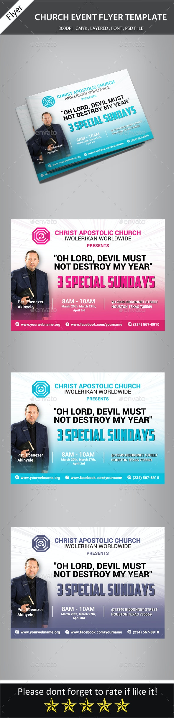 Church Event Flyer Template - Church Flyers