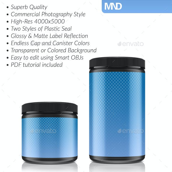 Creatine Canisters Mockup