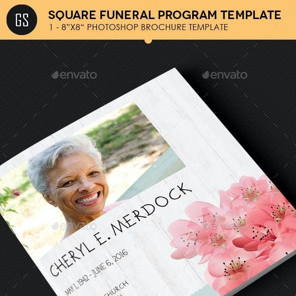 Magnolia Square Funeral Program Template