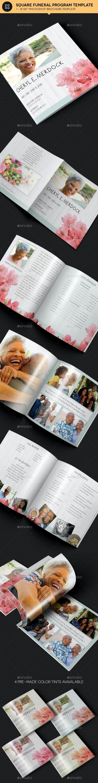 Magnolia Square Funeral Program Template - Informational Brochures