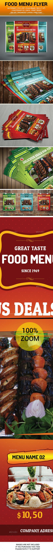Restaurant & Food Menu Flyer  - Restaurant Flyers