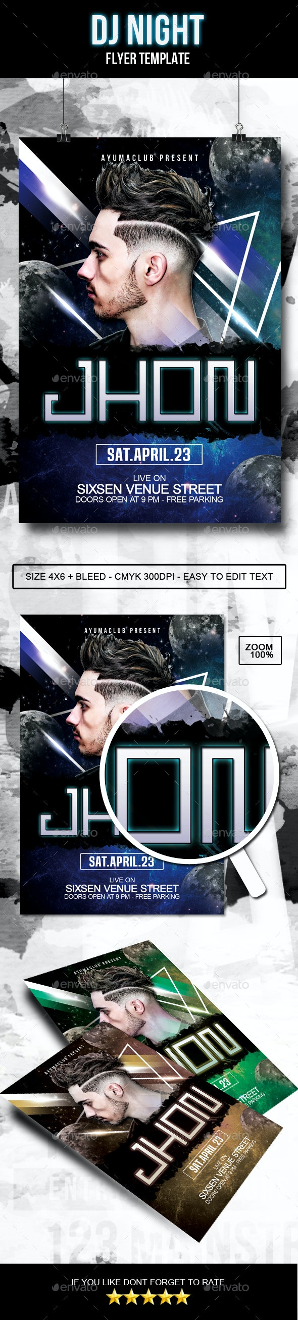 DJ Night Flyer - Clubs & Parties Events