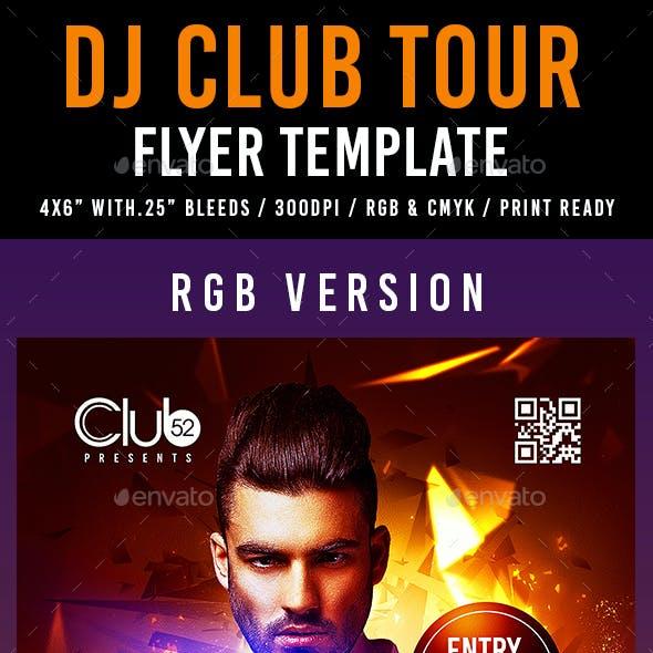 DJ Club Tour Flyer Template